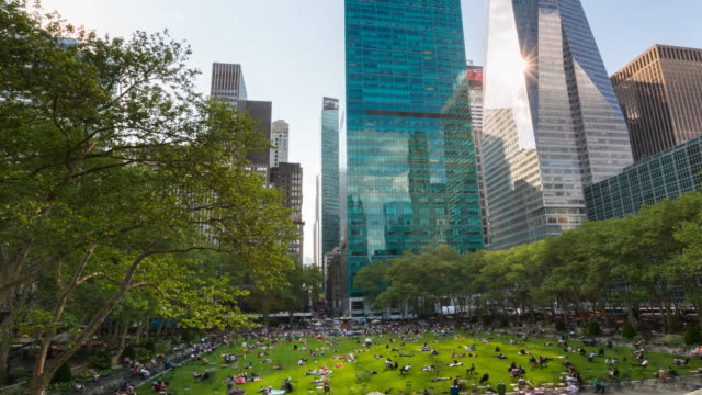 tl ws zo bryant park - bryant park stock videos and b-roll footage