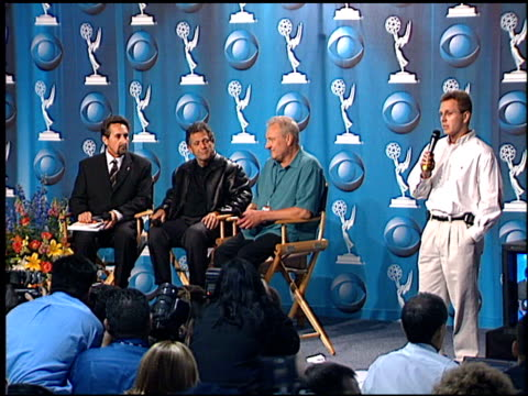 vídeos de stock, filmes e b-roll de bryce able at the 2001 emmy awards cancel press conference at the shrine auditorium in los angeles, california on october 7, 2001. - shrine auditorium