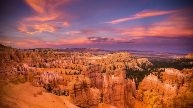 bryce canyon national park at sunset - time lapse - national landmark stock videos & royalty-free footage