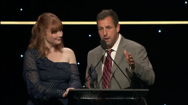 speech bryce dallas howard and adam sandler at thirst project's 10th annual thirst gala at the beverly hilton hotel on september 28 2019 in beverly... - adam sandler stock videos & royalty-free footage