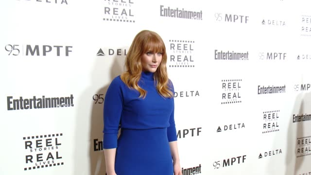 bryce dallas howard at 5th annual reel stories real lives benefiting the motion picture television fund in los angeles ca - motion picture & television fund stock videos & royalty-free footage