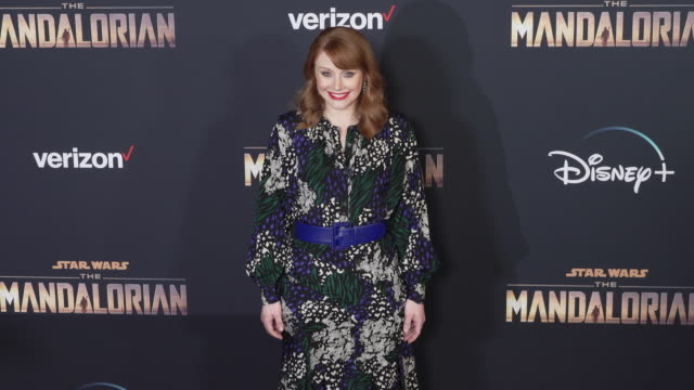 bryce dallas howard at the the mandalorian world premiere - arts culture and entertainment stock videos & royalty-free footage