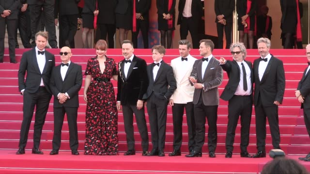 bryce dallas howard, kit connor, david furnish, elton john, taron egerton, dexter fletcher, richard madden and more on the red carpet for the... - premiere stock videos & royalty-free footage