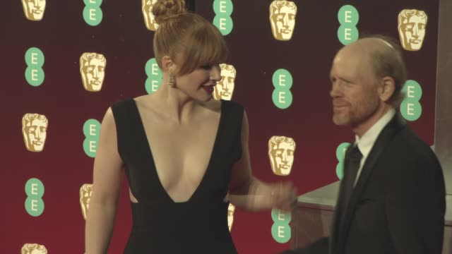 Bryce Dallas Howard Ron Howard at EE British Academy Film Awards at Royal Albert Hall on February 12 2017 in London England