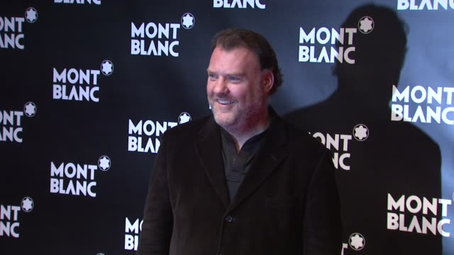 vídeos y material grabado en eventos de stock de bryn terfel at the global launch of the montblanc john lennon edition at new york ny. - bryn terfel