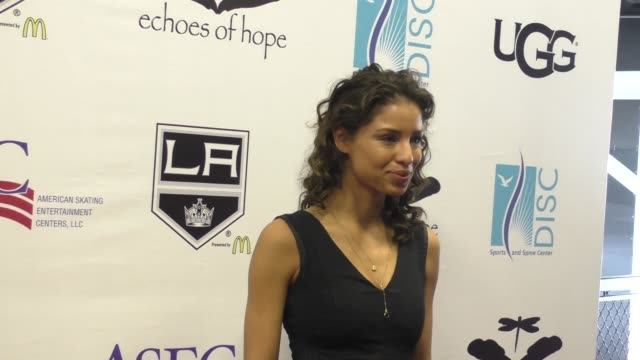 vídeos y material grabado en eventos de stock de brytni sarpy at the luc robitaille celebrity shootout at toyota sports center in el segundo in celebrity sightings in los angeles - toyota sports center