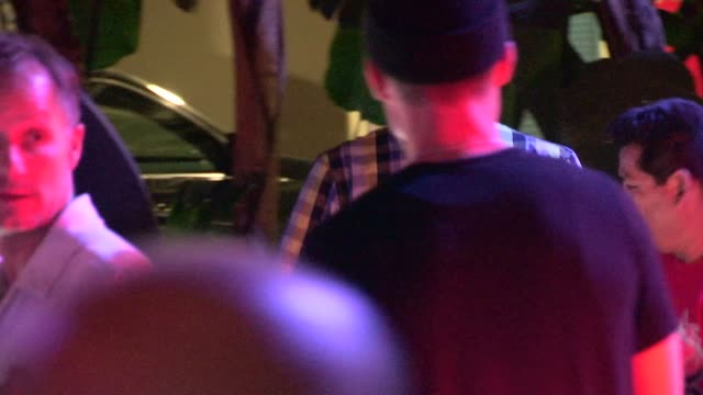 Bubba Watson greets fans whiledeparting from LA Clippers Oklahoma City Thunder game 6 at Staples Center in Los Angeles at Celebrity Sightings in Los...