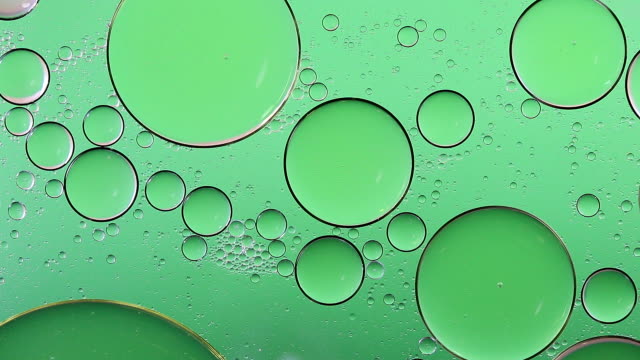 Bubble versheid helder groene achtergrondkleur