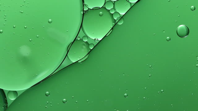 bubble on water abstract bakgrounds - green stock videos & royalty-free footage