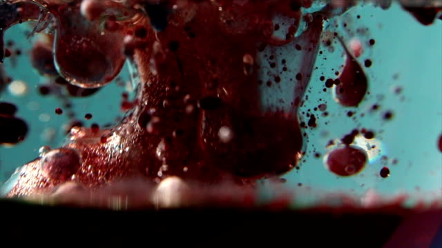 bubbles experiment - food coloring stock videos and b-roll footage