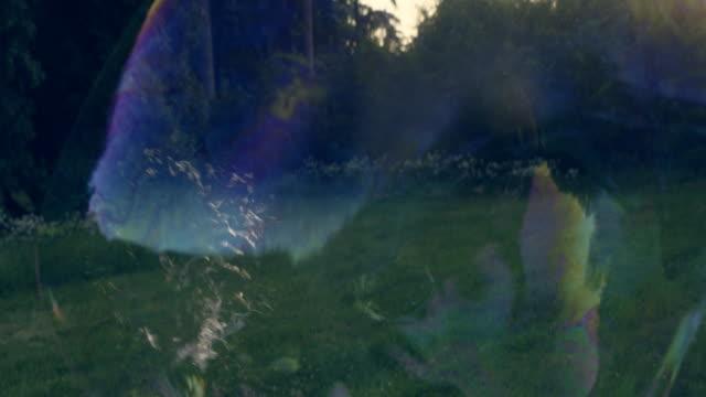 vidéos et rushes de des bulles dans le parc. plaisir d'été - de grande taille