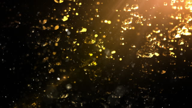 bubbles rising in a drink liquid. 4k - man made stock videos & royalty-free footage
