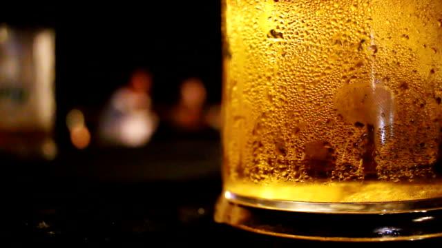 Bubbling Beer in Restaurant