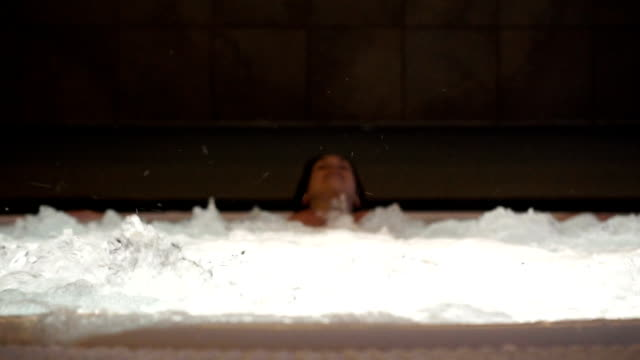 bubbling water in hot tub - whirlpool stock videos & royalty-free footage