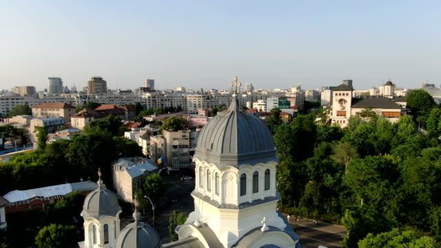 bucharest  / aerial drone view - vlad the impaler stock videos & royalty-free footage