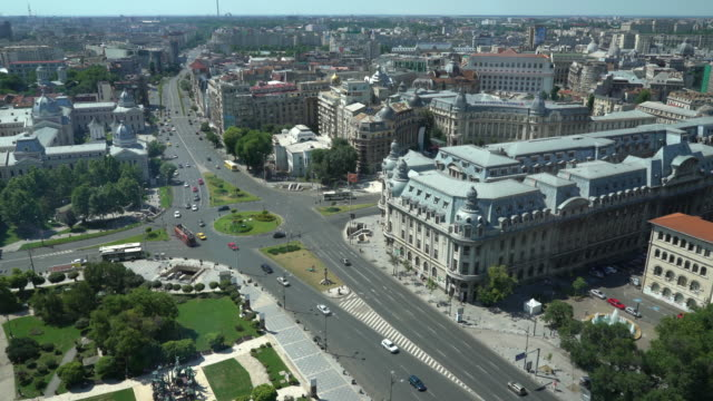 Bucharest from above, , two clips