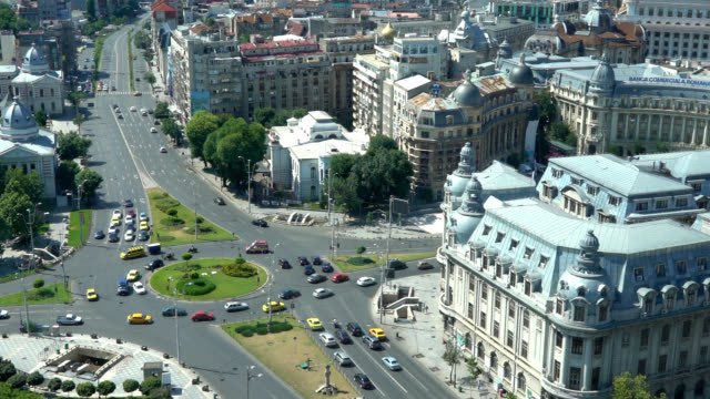 bucharest from above, zoom out - romania stock videos & royalty-free footage