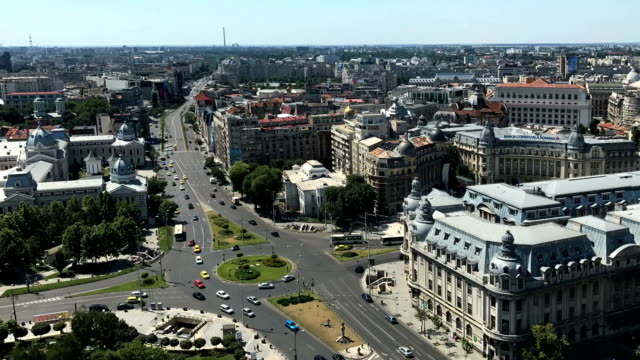 bucharest timelapse aerial - romania stock videos & royalty-free footage