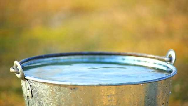 bucket filled with water - bucket stock videos and b-roll footage