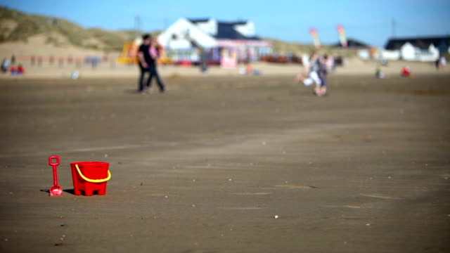 bucket, spade and family - kent england stock videos & royalty-free footage