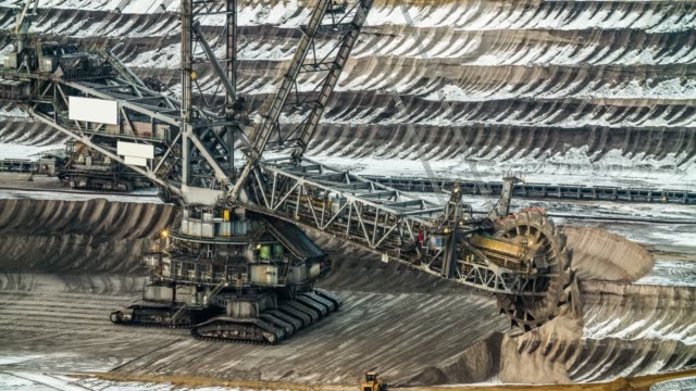 bucket wheel excavator in a lignite mine - construction vehicle stock videos & royalty-free footage