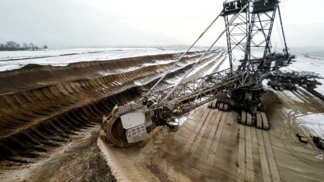 Bucket Wheel Excavator in Brown Coal Mine