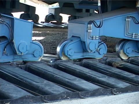 bucket wheel excavator transportation - mechanical digger stock videos & royalty-free footage