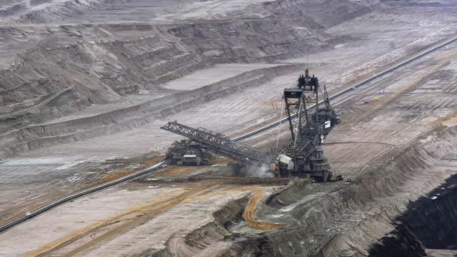 bucket-wheel excavator - pit mine stock videos and b-roll footage