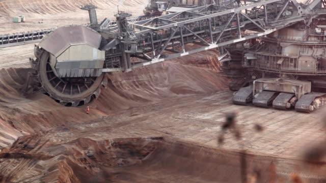 bucket-rad excavator - maschinenteil ausrüstung und geräte stock-videos und b-roll-filmmaterial