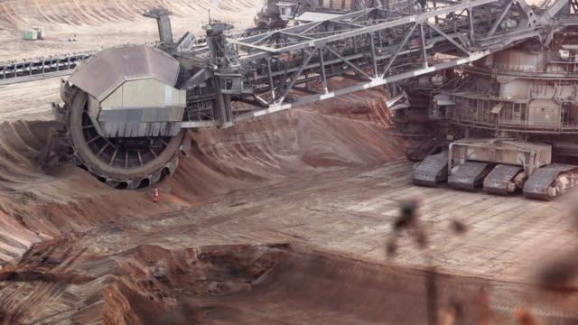 bucket-wheel excavator - bucket stock videos and b-roll footage
