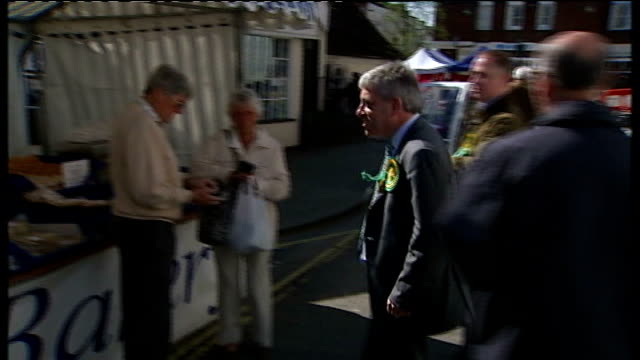 john bercow speaking sot - well, i suppose i've been shaking quite a lot of hands various of bercow chatting to local people at market market... - 12 13 years stock videos & royalty-free footage