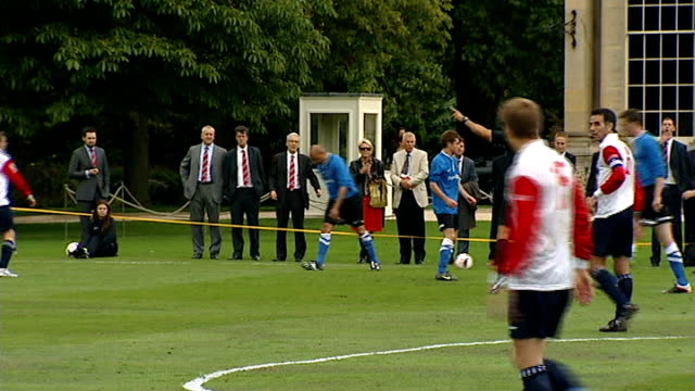 greg dyke intv england london buckingham palace ext various of football match on palace lawn between polytechnic fc and civil service fc teams in... - greg dyke stock videos & royalty-free footage