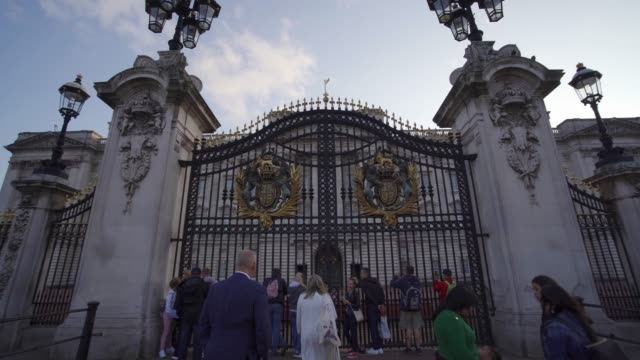 buckingham palace, london, england, united kingdom, europe - palace stock videos & royalty-free footage