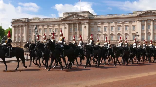 buckingham palace london - buckingham stock videos & royalty-free footage