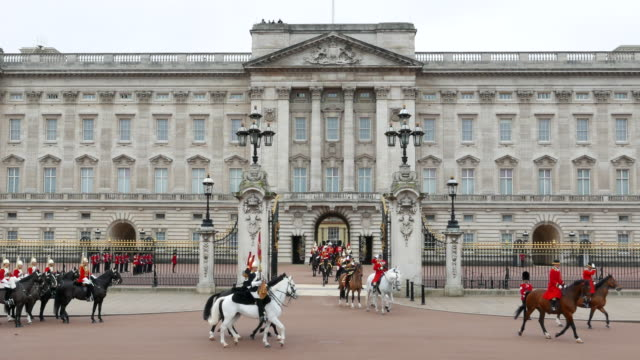 buckingham palace - buckingham stock videos & royalty-free footage
