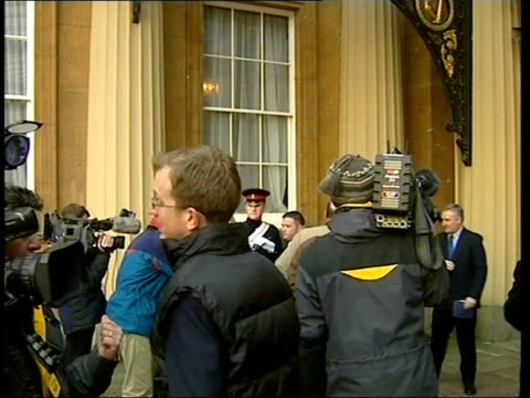 war honours ext christopher finney in courtyard of palace christopher finney interview sot i was just there to do it another soldier posing for photo... - courtyard stock videos and b-roll footage