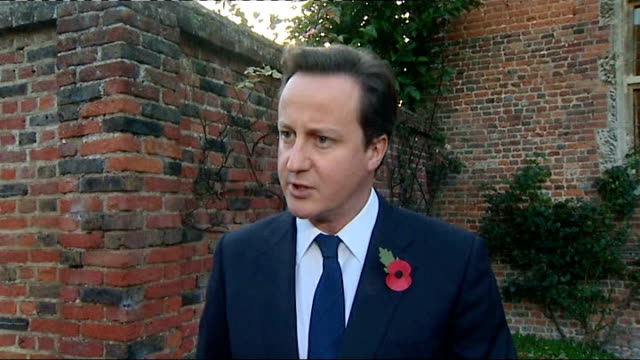 chequers david cameron mp speaking to press sot i have spoken to president obama and emphasised how we'd go on working closely together have also... - al qaida stock videos & royalty-free footage