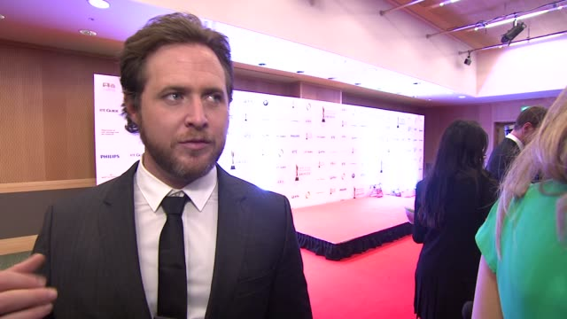 buckley on ireland, his irish roots, on the iftas at the iftas at convention centre dublin, ireland on february 11th 2012 - irish film and television awards stock videos & royalty-free footage