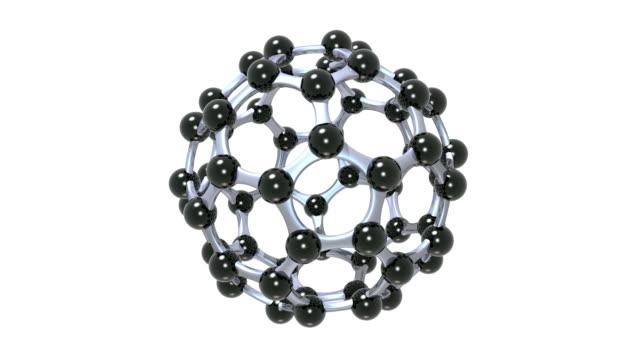 buckminsterfullerene molecule - sphere stock videos & royalty-free footage
