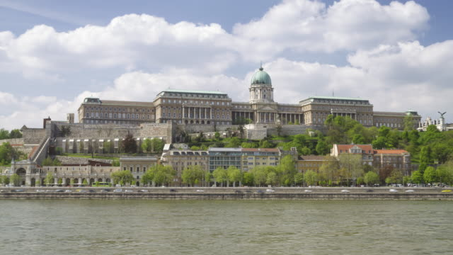 buda castle in budapest, hungary. - royal palace of buda stock videos & royalty-free footage