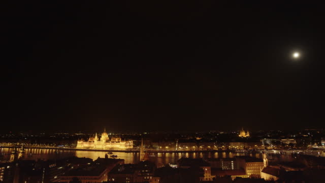 Budapest And The Hungarian Parliament Building At Night