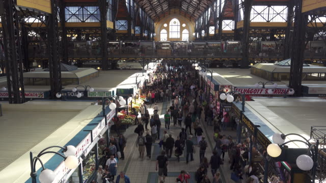 budapest central market hungary - budapest stock videos & royalty-free footage