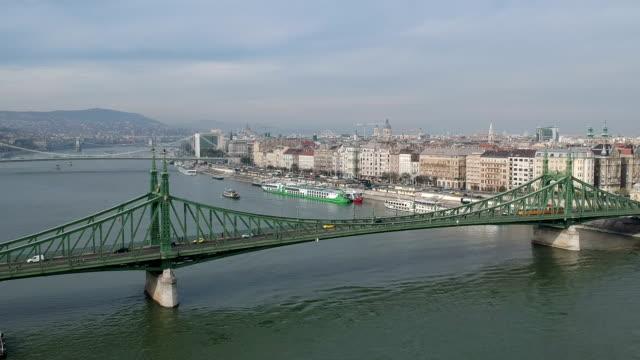 Budapest Cityscape and Liberty Bridge