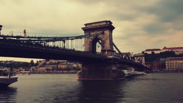 Budapest stadsgezicht-Chain Bridge en Buda Hill