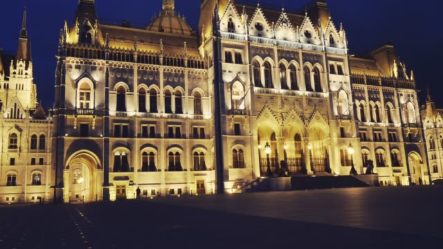 budapest cityscape - hungarian parliament is famous tourist attractions - traditionally hungarian stock videos & royalty-free footage