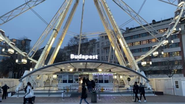 'budapest eye' - ferris wheel - hungary stock videos & royalty-free footage