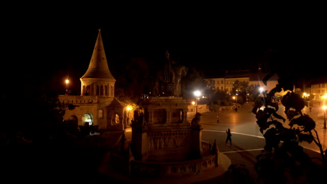 Budapest Fisherman's Bastion At Night