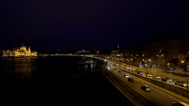 Budapest From The North At Night Cinemagraph