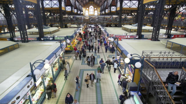 Budapest Great Market Hall (Central Market Hall) Inside