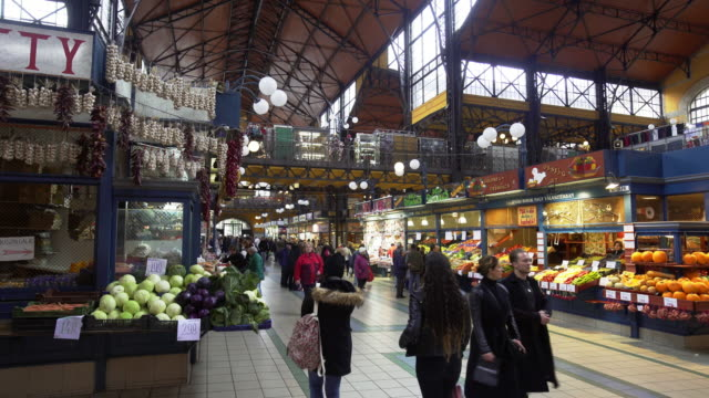 Budapest Great Market Hall (Central Market Hall) Inside